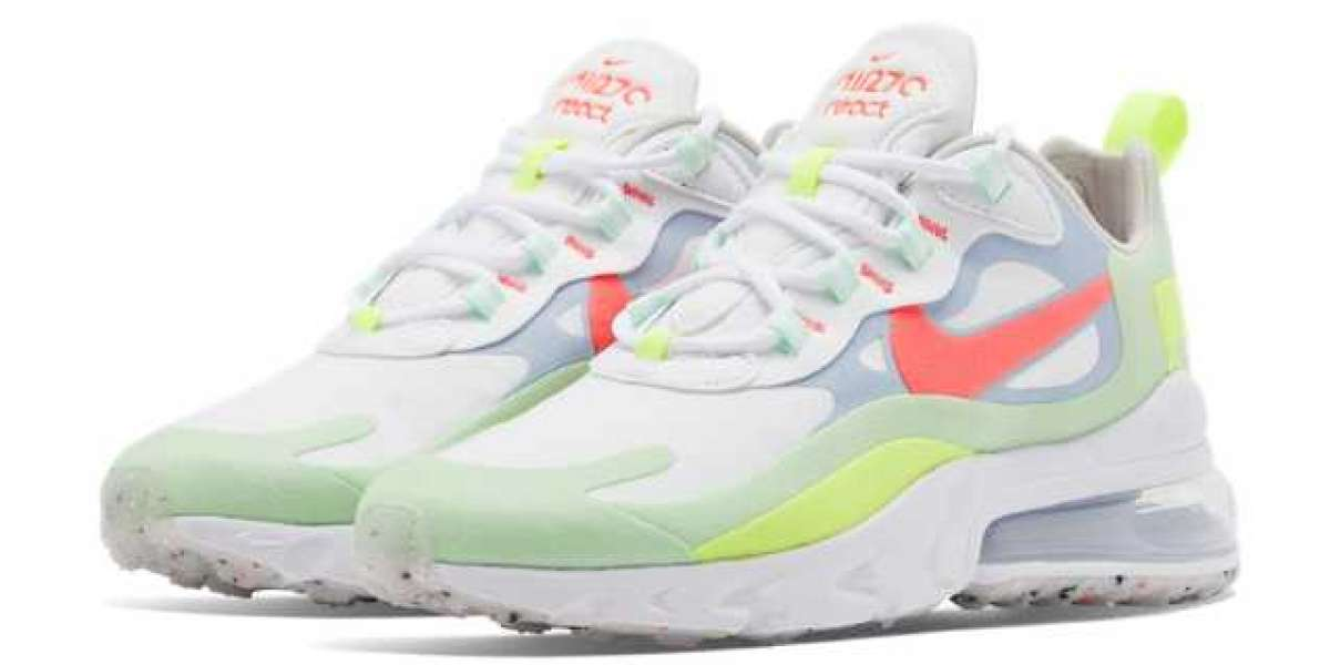 2020 Nike Air Max 270 React WMNS White Crimson Green